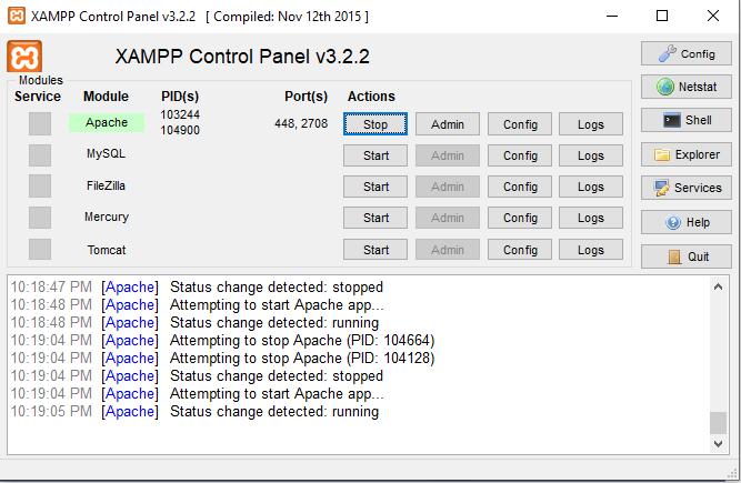 cara mengganti port apache pada xampp dengan mudah